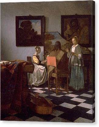 The Concert Canvas Print by Johannes Vermeer