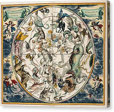 The Constellations Canvas Print by British Library