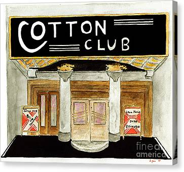 The Cotton Club Canvas Print by AFineLyne