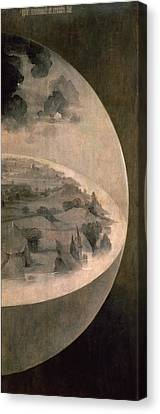 Panel Door Canvas Print - The Creation Of The World by Hieronymus Bosch