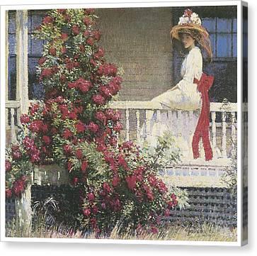 The Crimson Rambler Canvas Print by Philip Leslie Hale