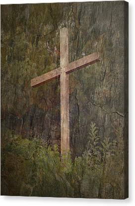 The Cross Canvas Print by Cindy Wright