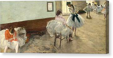 The Dance Lesson Canvas Print by Mountain Dreams