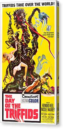 Horror Fantasy Movies Canvas Print - The Day Of The Triffids, 1962 by Everett