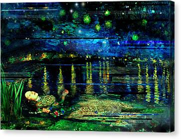 The Death Of Ophelia Rectangles Canvas Print