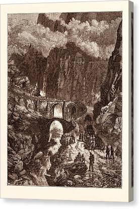 Collingwood Canvas Print - The Devils Bridge by Swiss School