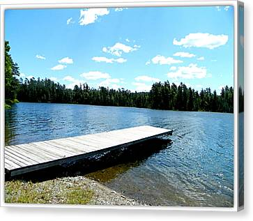 The Dock Canvas Print by Dianne  Lacourciere