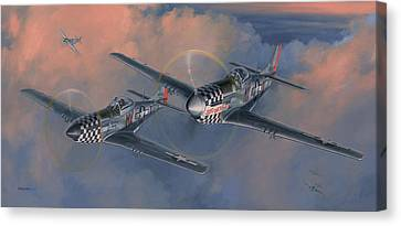 P-51 Canvas Print - The Duxford Boys by Wade Meyers