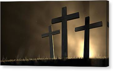 The Early Morning Crucifixion Canvas Print by Allan Swart