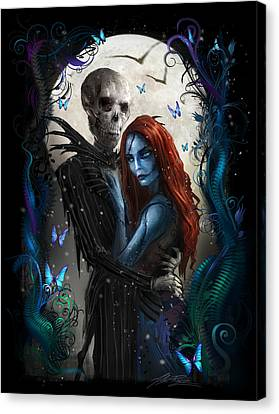 'the Embrace' V2 Canvas Print by Alex Ruiz