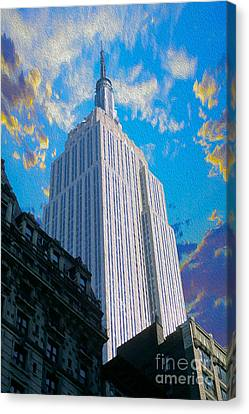 The Empire State Building Canvas Print by Jon Neidert