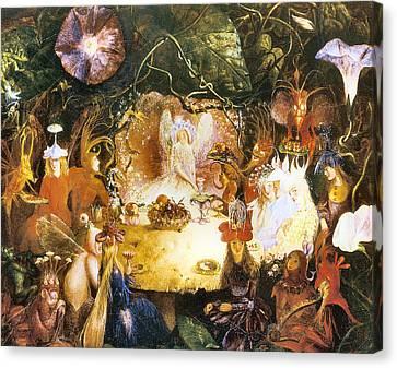 The Fairies Banquet Canvas Print by John Anster Fitzgerald