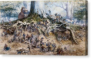 Faries Canvas Print - The Fairy Tree by Richard Doyle