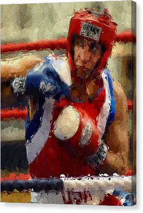 The Fighter Canvas Print by Stefan Kuhn