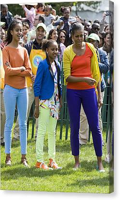 Malia Obama Canvas Print - The First Lady And Daughters by JP Tripp