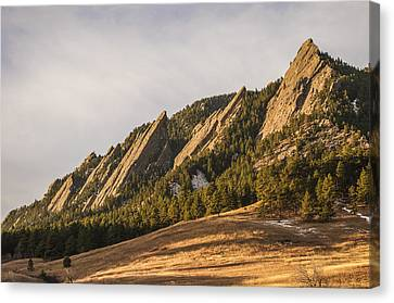 The Flatirons 2 Canvas Print by Aaron Spong