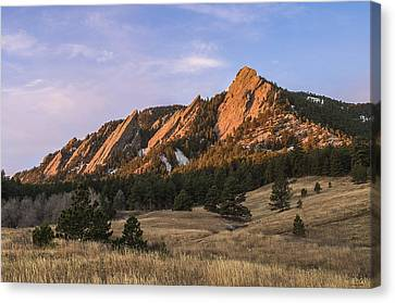 Foothills Canvas Print - The Flatirons by Aaron Spong