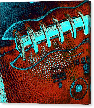 The Football Canvas Print by David Patterson