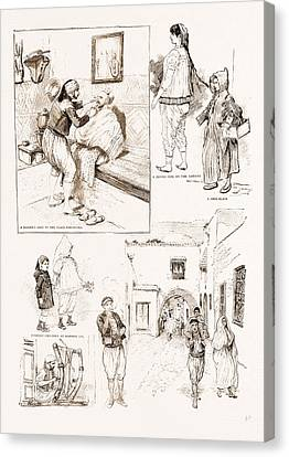 Lif Canvas Print - The French Occupation Of Tunis Native Character Sketches by Litz Collection