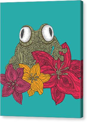 Frog Canvas Print - The Frog by Valentina Ramos