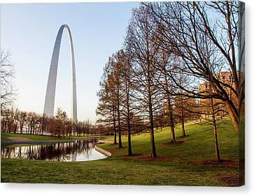 The Gateway Arch In St Canvas Print by Jerry and Marcy Monkman