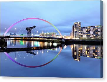 The Glasgow Clyde Arc Bridge Canvas Print by Grant Glendinning