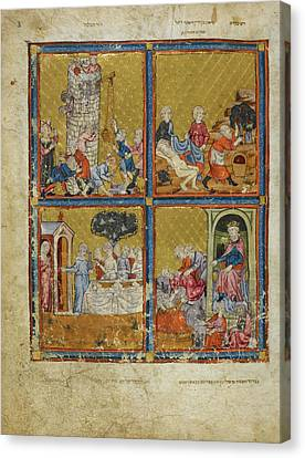 The Golden Haggadah Canvas Print by British Library