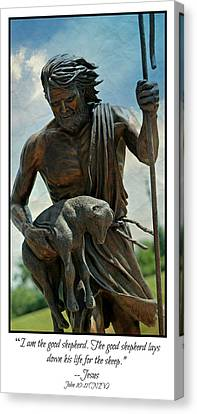 Saint Hope Canvas Print - The Good Shepherd by Stephen Stookey
