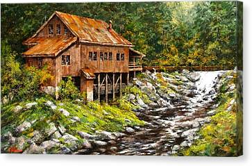 The Grist Mill Canvas Print by Jim Gola