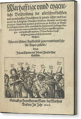 King James Canvas Print - The Gunpowder Plot Conspirators by British Library