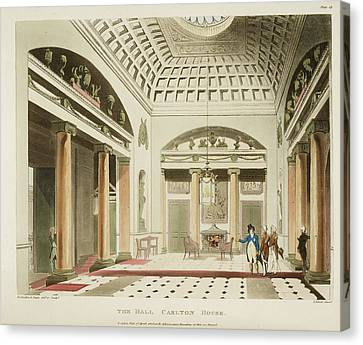 The Hall Canvas Print by British Library