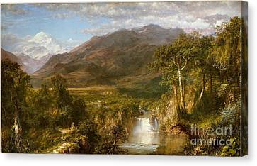 The Heart Of The Andes Canvas Print by Celestial Images