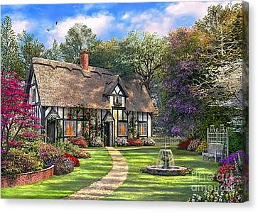 The Hideaway Cottage Canvas Print
