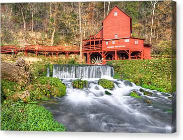 The Hodgson Water Mill - Missouri Canvas Print by Gregory Ballos