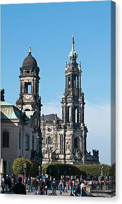 Michael Canvas Print - The Hofkirche (church Of The Court by Michael Defreitas