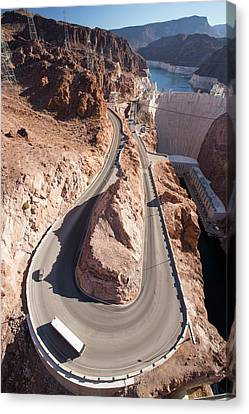 The Hoover Dam And Lake Mead Canvas Print by Ashley Cooper