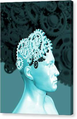 The Human Mind Canvas Print by Victor Habbick Visions