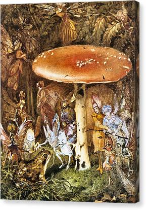 Fairies Canvas Print - The Intruders by John Anster Fitzgerald