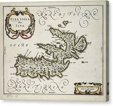 The Isle Of Elba Canvas Print by British Library
