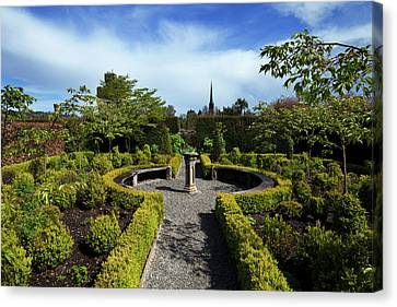 The Jacobean Top Garden,lismore Castle Canvas Print by Panoramic Images