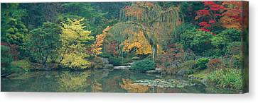 The Japanese Garden Seattle Wa Usa Canvas Print by Panoramic Images