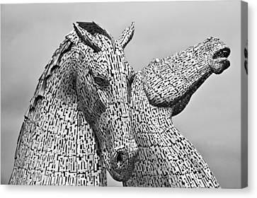 The Falkirk Kelpies Canvas Print by Mike Marsden