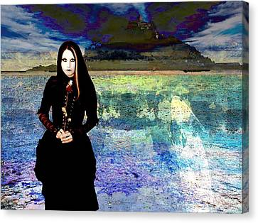 The Lady Of The Lake Canvas Print by Miguel Conesa Osuna