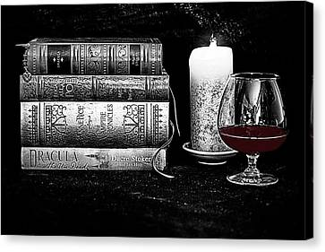 The Last Sip Canvas Print by Jacque The Muse Photography