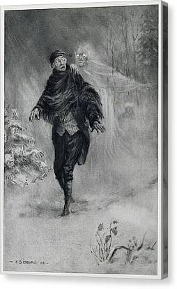 The Legend Of Sleepy Hollow Canvas Print by British Library