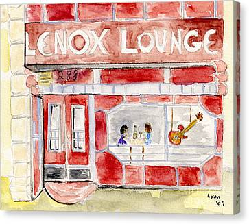 The Lenox Lounge Canvas Print by AFineLyne