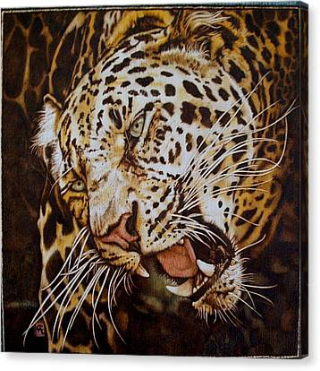 The Leopard's Hello Canvas Print by Cynthia Adams