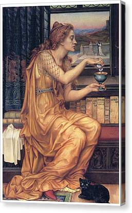 The Love Potion Canvas Print by Evelyn De Morgan