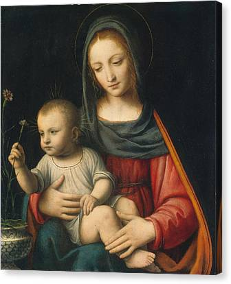 The Madonna Of The Carnation Canvas Print