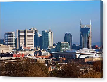 The Nashville Skyline As Viewed Canvas Print
